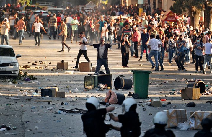 Bei den Protesten in Ramallah kam es zu Zusammenstößen