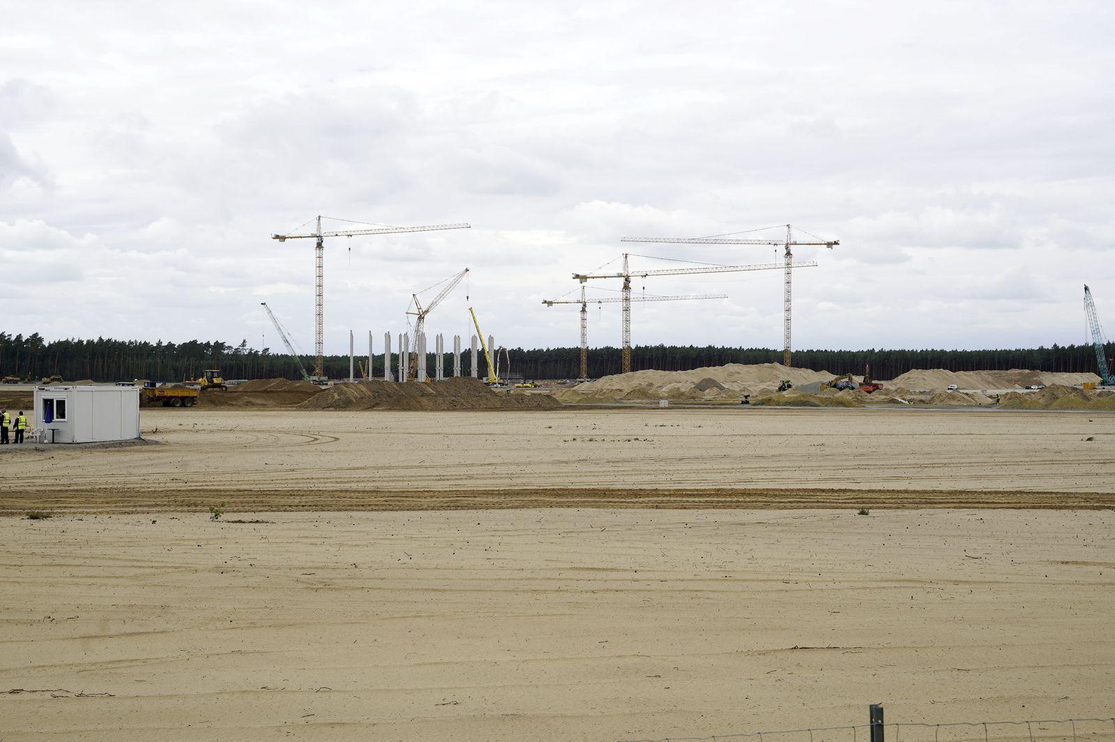Baugelände der Tesla Gigafactory 4