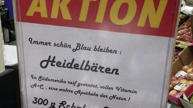 Schild in einem Tengelmann-Markt in München