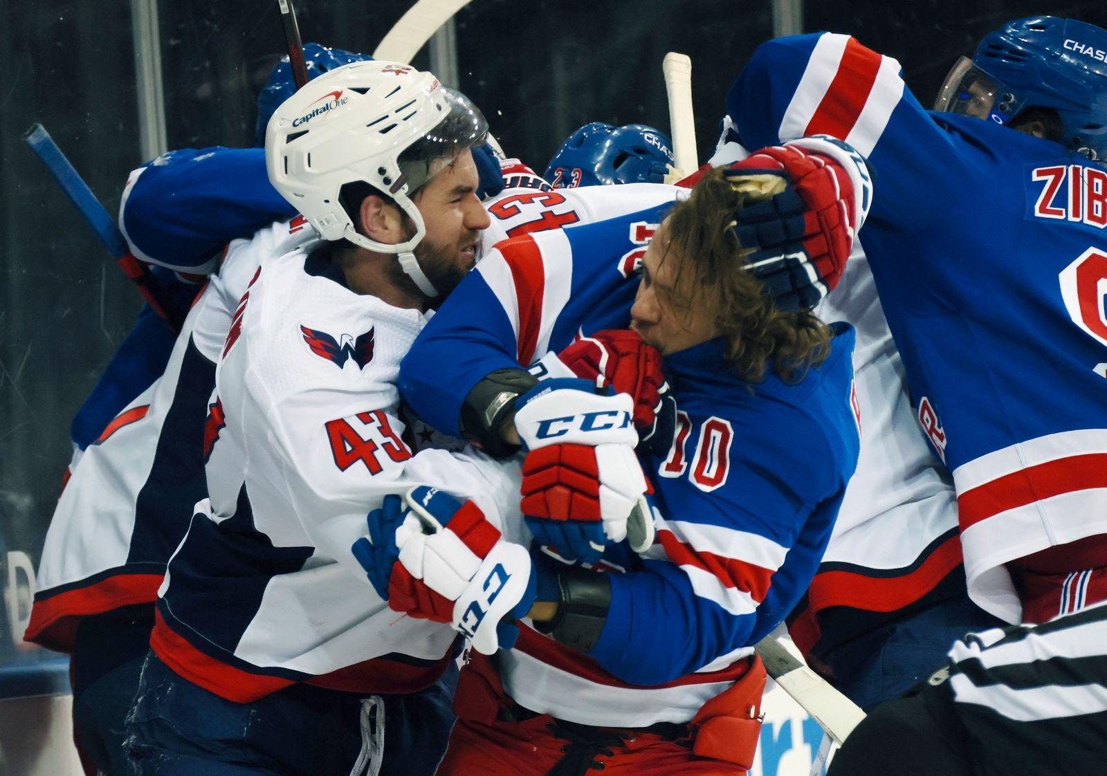 Capitals Rangers Hockey