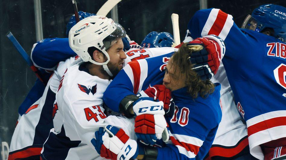 Es gab einiges zu besprechen in dieser NHL-Partie