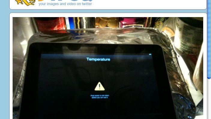 Suche nach Abkühlung: Einige Nutzer berichten, ihren iPads werde schnell zu heiß