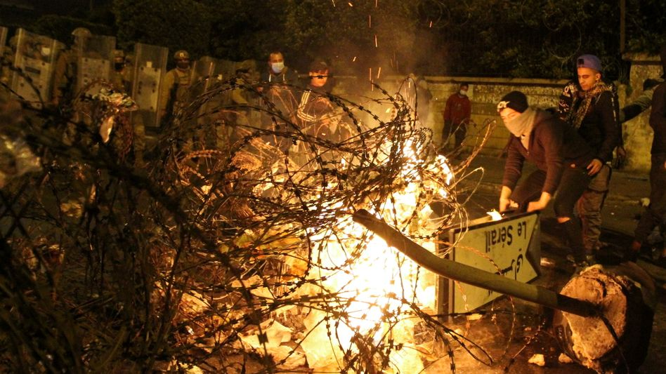Proteste in der libanesischen Hafenstadt Tripoli