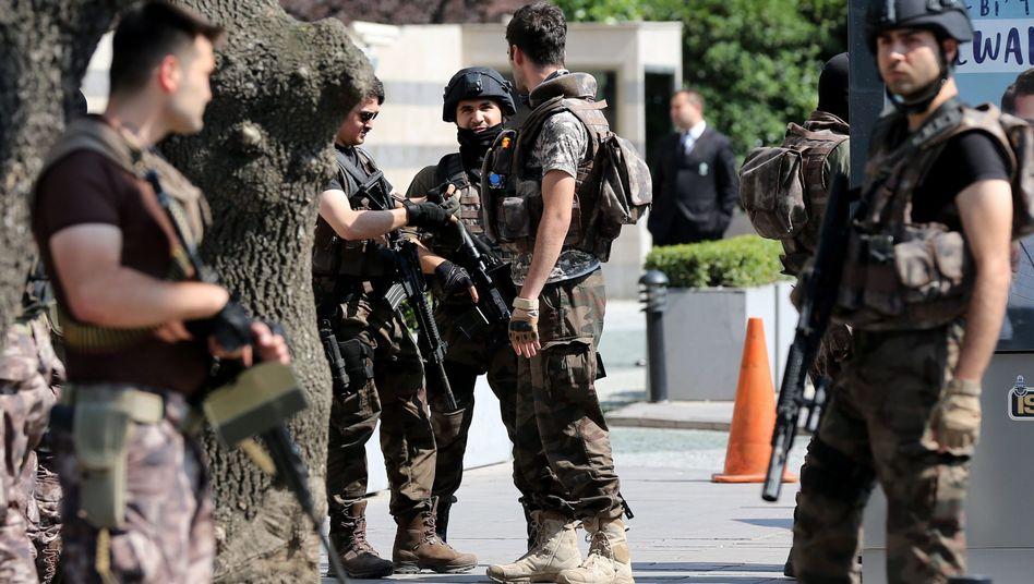 Mitglieder einer Spezialeinheit in der Türkei
