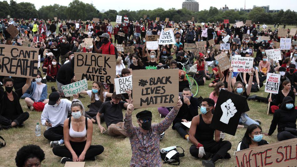 Black-Lives-Matter-Proteste in London (Juni 2020)