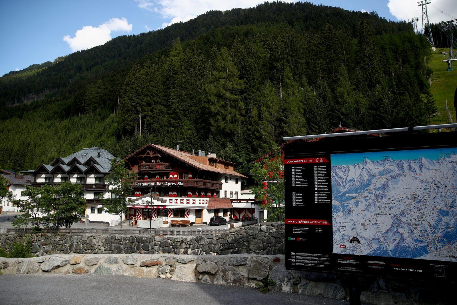 A general view of the Kitzloch apres-ski bar in Ischgl