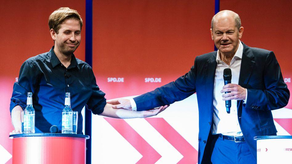 Nicht immer ein Herz und eine Seele: SPD-Kanzlerkandidat Scholz und sein früherer innerparteilicher Kritiker Kühnert