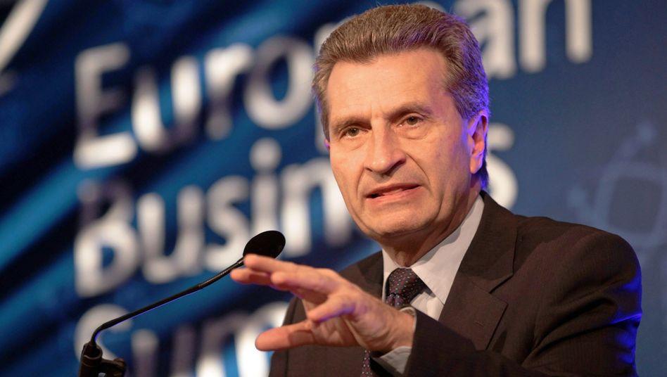EU-Energiekommissar Günther Oettinger: Er war dann mal weg