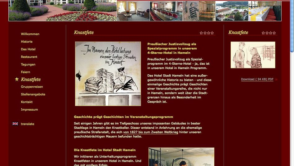 """""""Prison Parties"""" are a selling point for a German hotel in a former Nazi jail."""