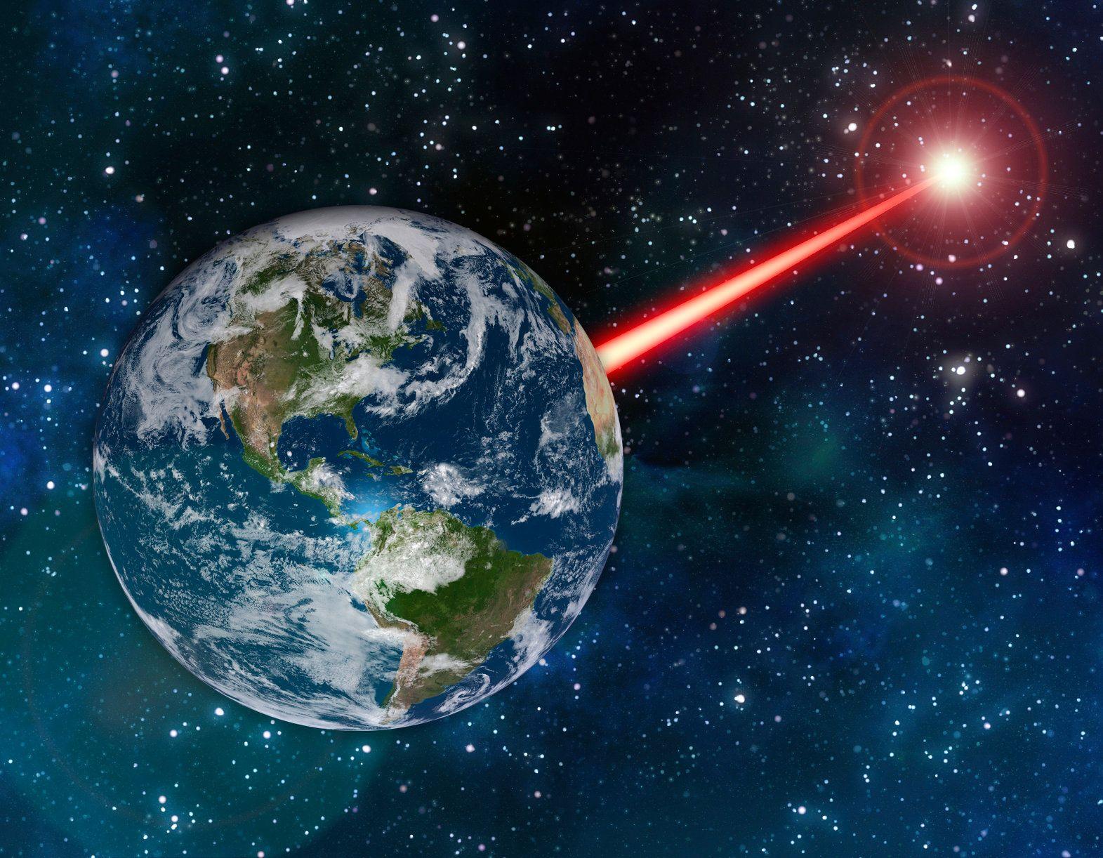 Leuchtsignale von der Erde