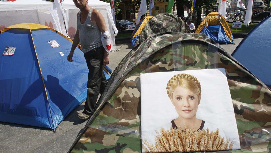 Unterstützung für Timoschenko: Anhänger der Politikerin haben ein Zeltlager aufgebaut