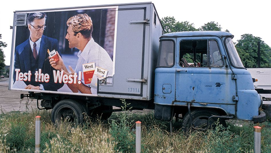 Lastwagen in Ostdeutschland, Anfang der Neunzigerjahre