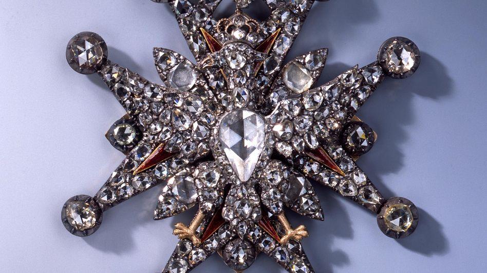 Detail des polnischen Weißen Adler-Ordens - eines der in Dresden gestohlenen Kunstobjekte