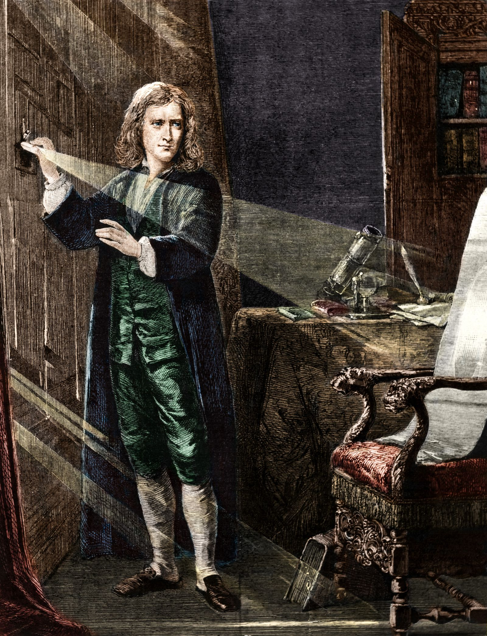 Isaac Newton, Physiker, Astronom, Grossbritannien
