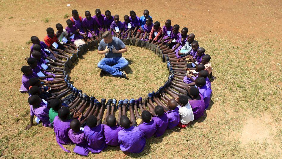 Entwicklungshelfer in Uganda