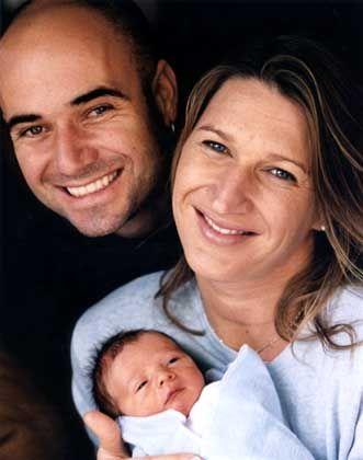 Stolze Eltern: Graf und Agassi mit Jaden Gil