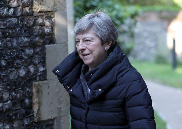 Premierministerin Theresa May: Die Europawahl verdrängt