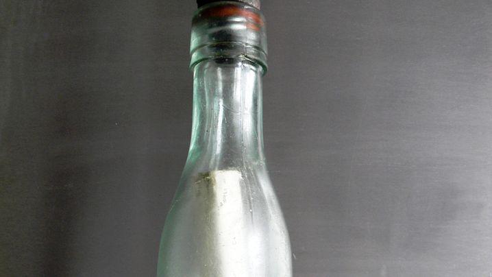 Späte Entdeckung: Älteste Flaschenpost aus Fluten gefischt