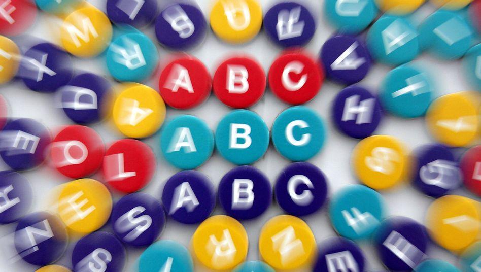 """Buchstaben des Spiels """"Lingua"""" (Symbolbild)"""