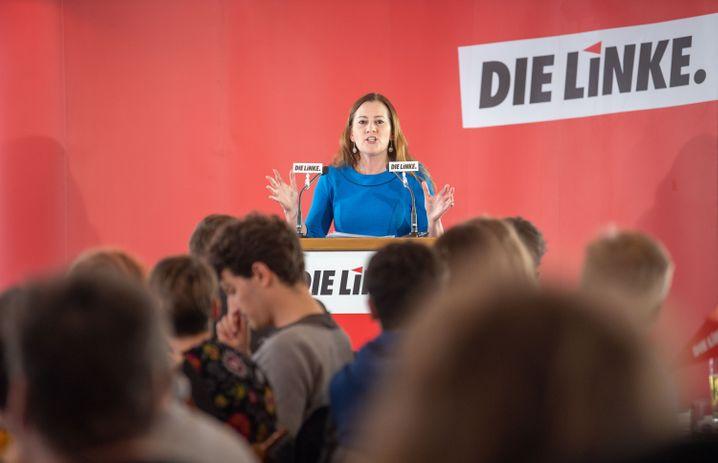 Wissler 2019 beim Politischen Aschermittwoch der Linken in Passau