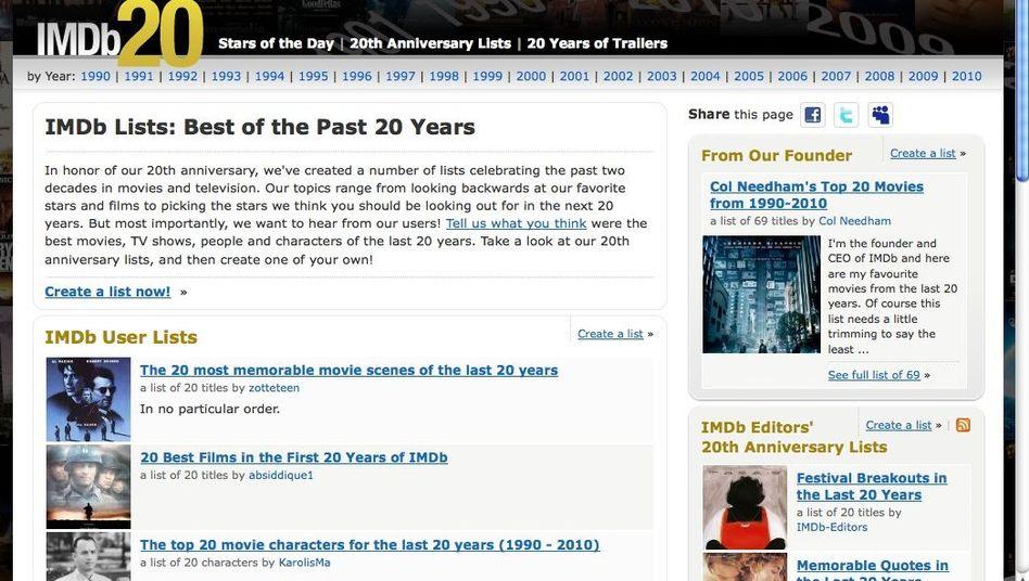 Internet Movie Database: Platz 38 der Weltrangliste