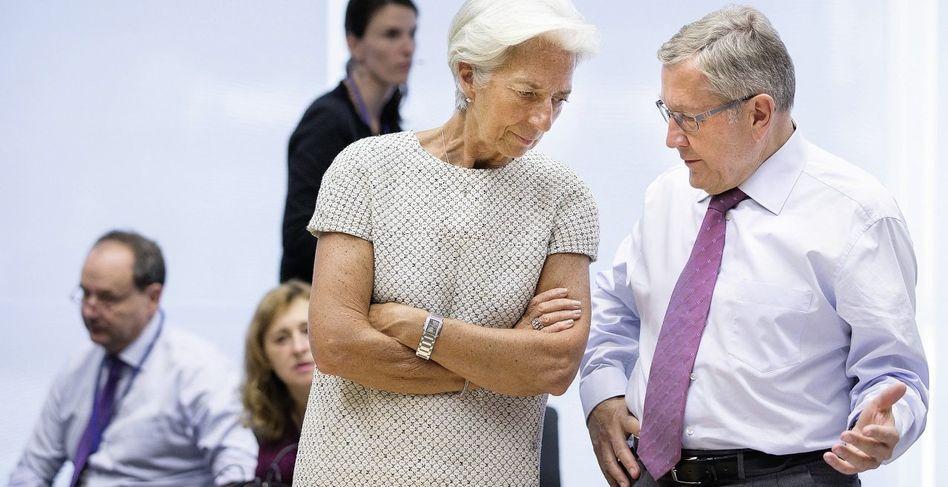 IWF-Chefin Lagarde, ESM-Chef Regling: Zunehmend emanzipiert