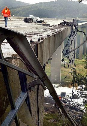 Wiehltalbrücke nach dem Unfall: Sanierung soll mehr als 30 Millionen Euro kosten