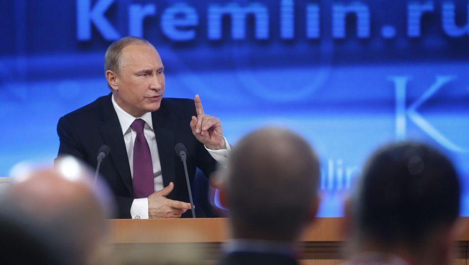 Putin (bei einer Pressekonferenz im Dezember 2014): Zwei Tage vorbereitet
