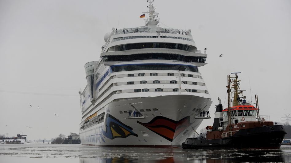 """""""Aida Blu"""" auf der Ems: Das Kreuzfahrtschiff bricht zu Probefahrt auf der Nordsee auf"""