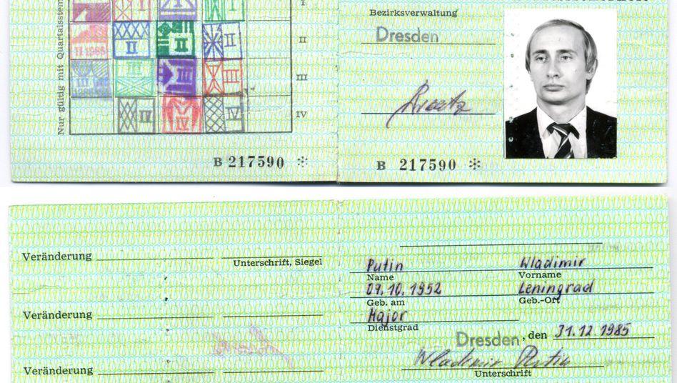 Putins Stasi-Ausweis aus Dresdner Archiv