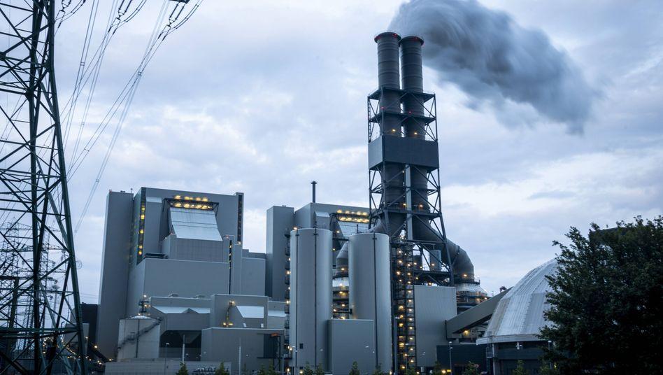 Das Kohlekraftwerk Moorburg in Hamburg