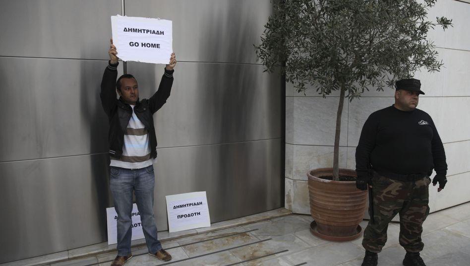 Proteste vor der Bank of Cyprus: Verdächtige Kapitalabflüsse