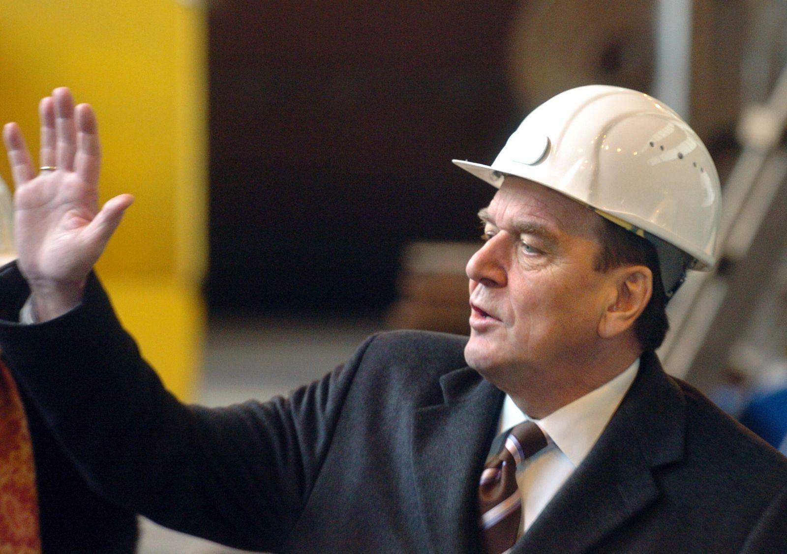 Gerhard Schröder besucht HDW