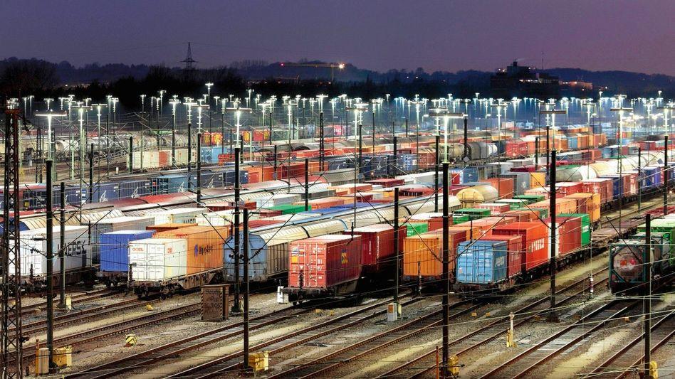 Güterwaggons in Maschen bei Hamburg