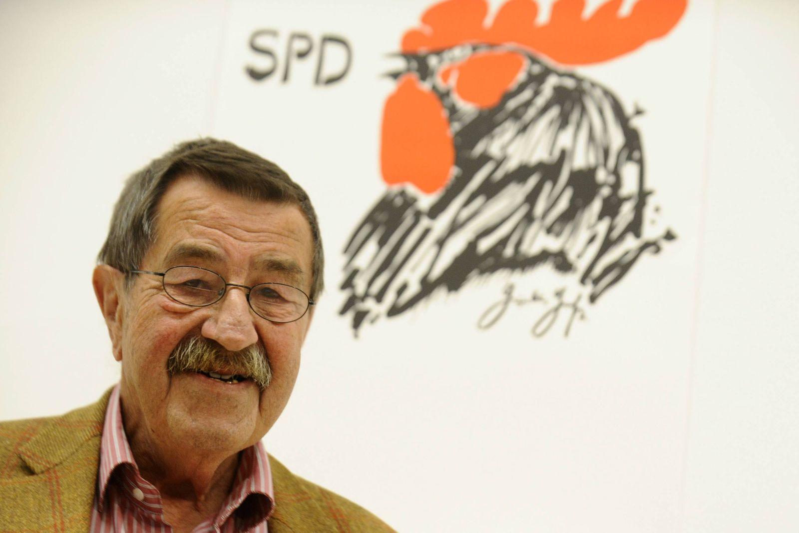 NICHT VERWENDEN Günter Grass auf politischer Lesereise