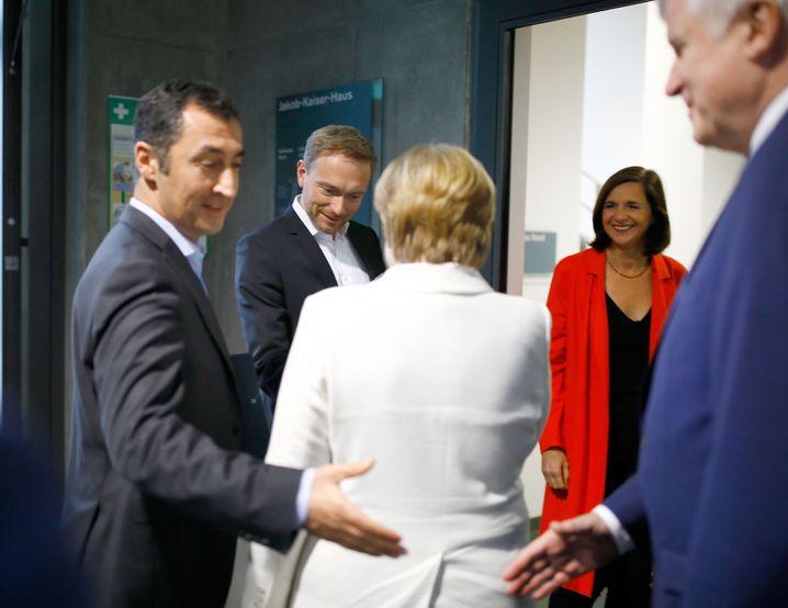 Gesprächspartner Özdemir, Lindner, Merkel, Göring-Eckardt, Seehofer