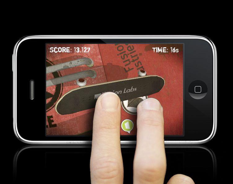 EINMALIGE VERWENDUNG Touchscreen-Spiele / Touchgrind / iPhone