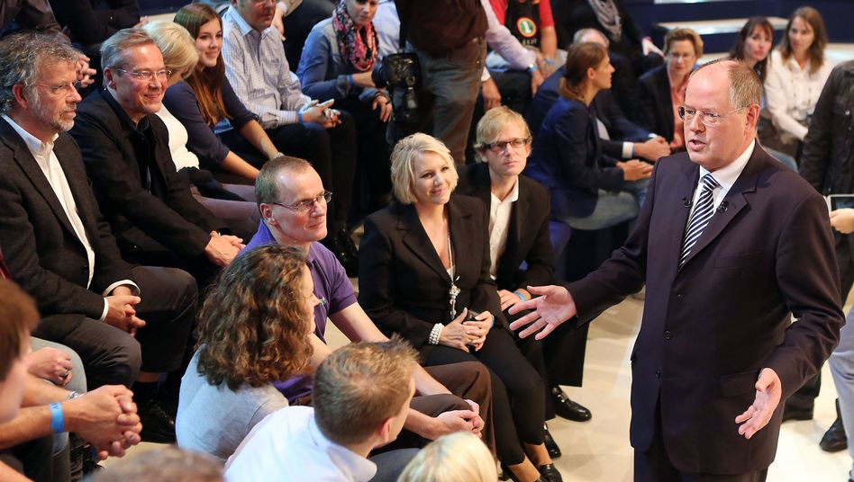 """SPD-Kanzlerkandidat Steinbrück: """"Da würde sich meine Frau beschweren"""""""