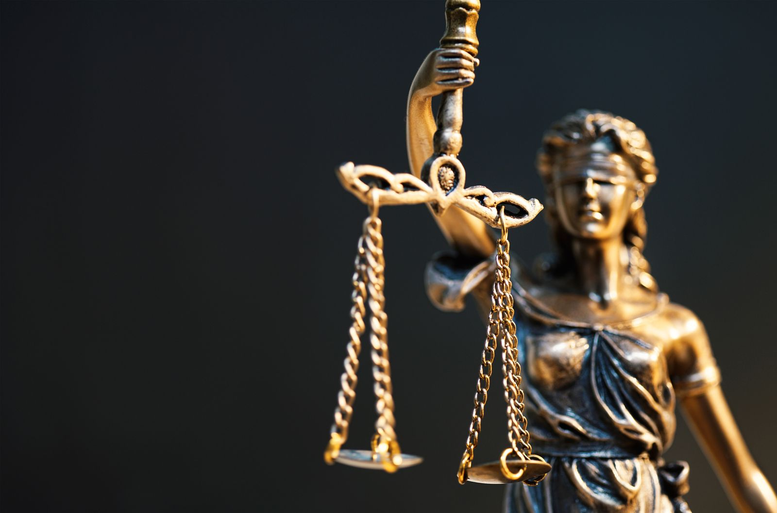 The Statue of Justice - lady justice or Iustitia / Justitia the Roman goddess of Justice (audioundwerbung)
