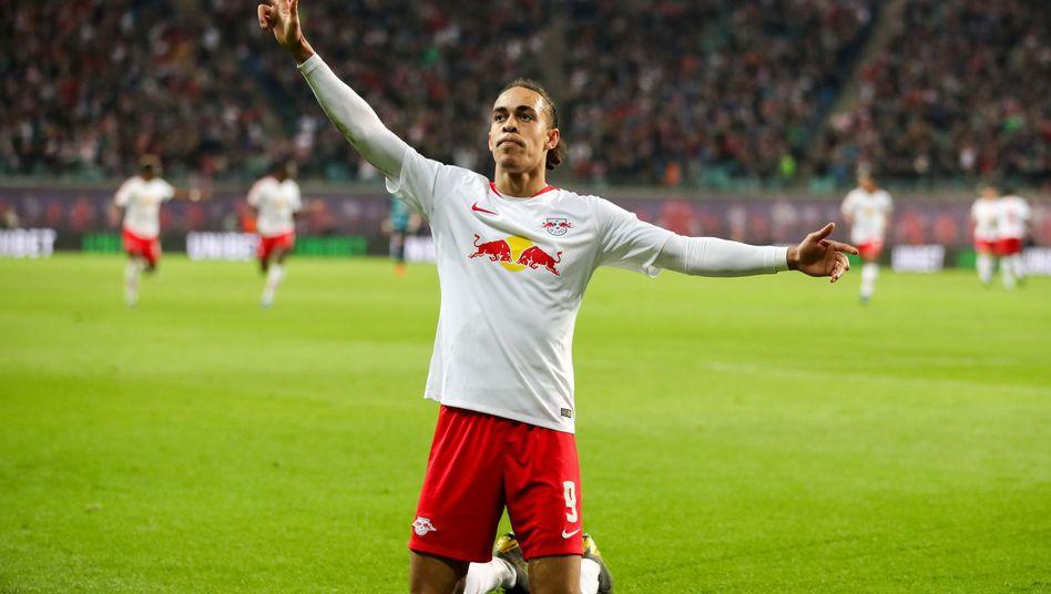 Ein Däne erobert die Bundesliga: Yussuf Poulsen spielt eine überragende Saison, das musste nun auch Hertha BSC erfahren.