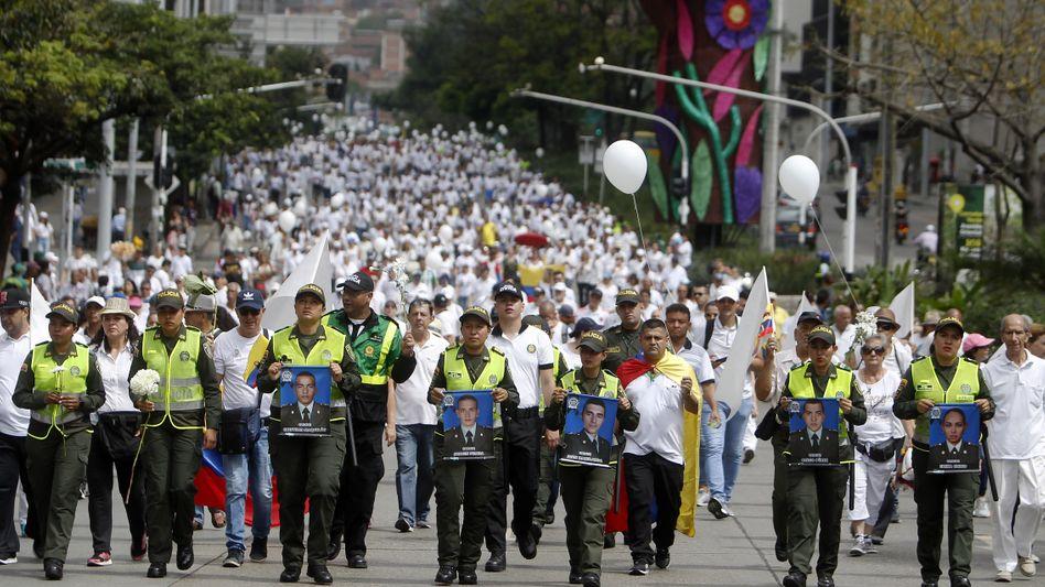 Anti-Terror-Marsch im kolumbianischen Medellín