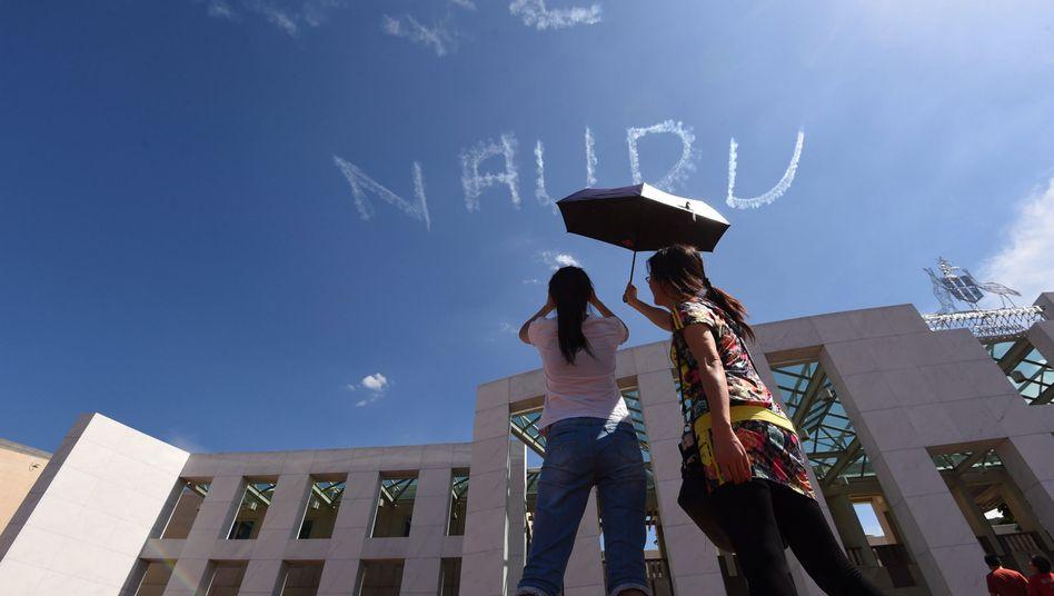 Protest gegen Flüchtlingslager Nauru in Canberra (Archiv)