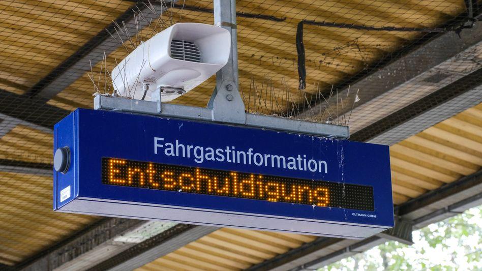 Anzeigetafel in Düsseldorf