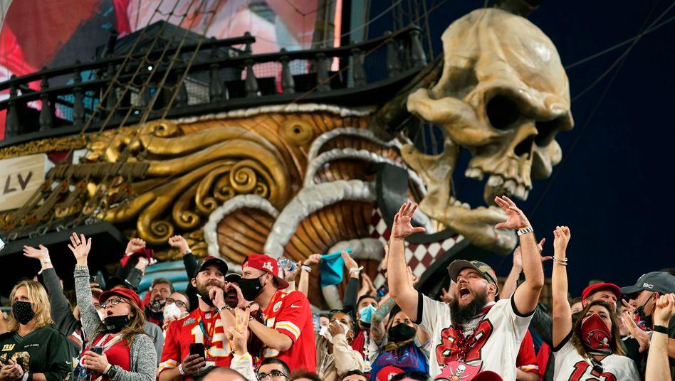 Nicht alle Zuschauer in Tampa trugen eine Maske