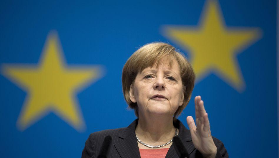 Bundeskanzlerin Merkel: Bedauert ein russisches Denken von Gebietsansprüchen