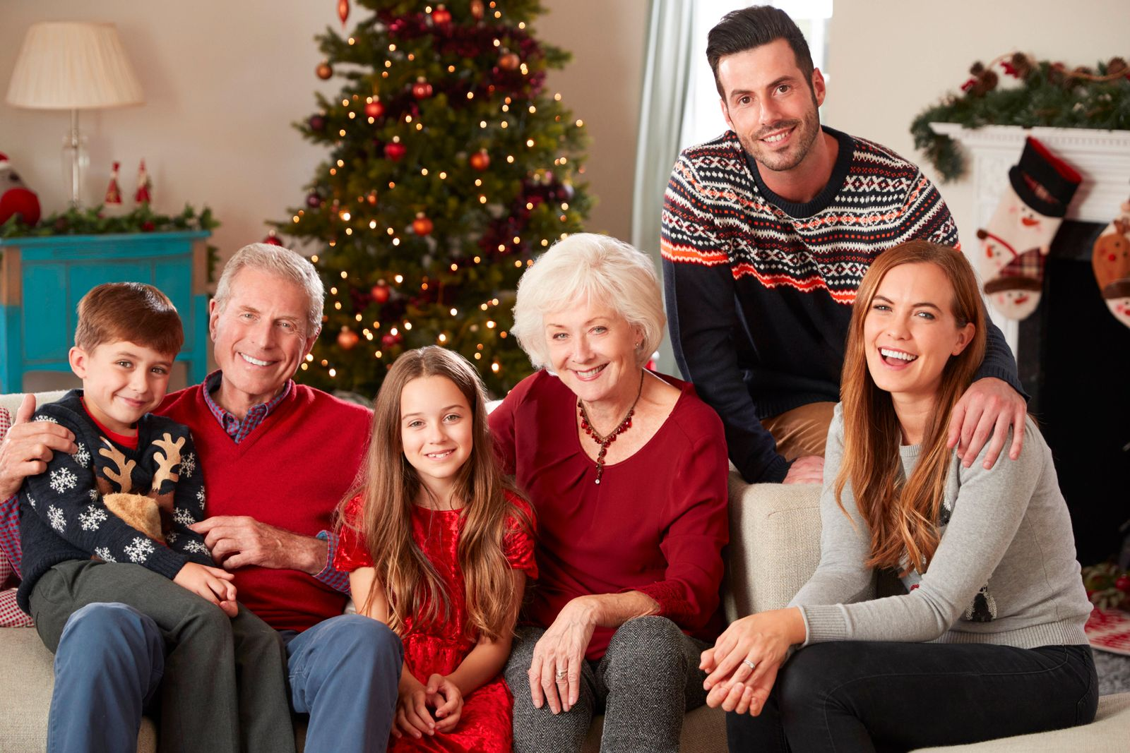 weihnachten,generationen,familienporträt *** christmas,generations,family portrait mmq-wv2,model released, Symbolfoto
