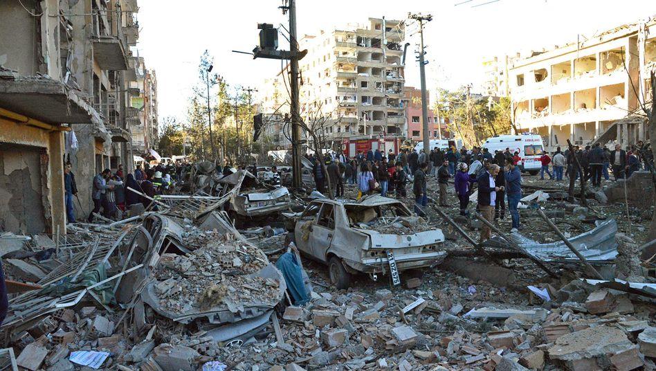 Anschlagsort in Diyarbakir