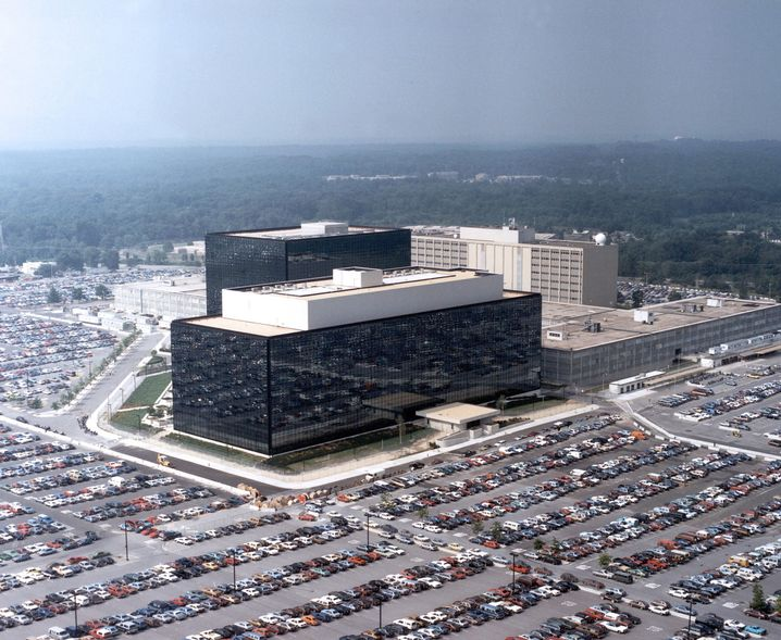 NSA-Hauptquartier (aus der Luft, wie meistens): Fotos sind verboten, gleichzeitig gibt es einen Souvenirshop