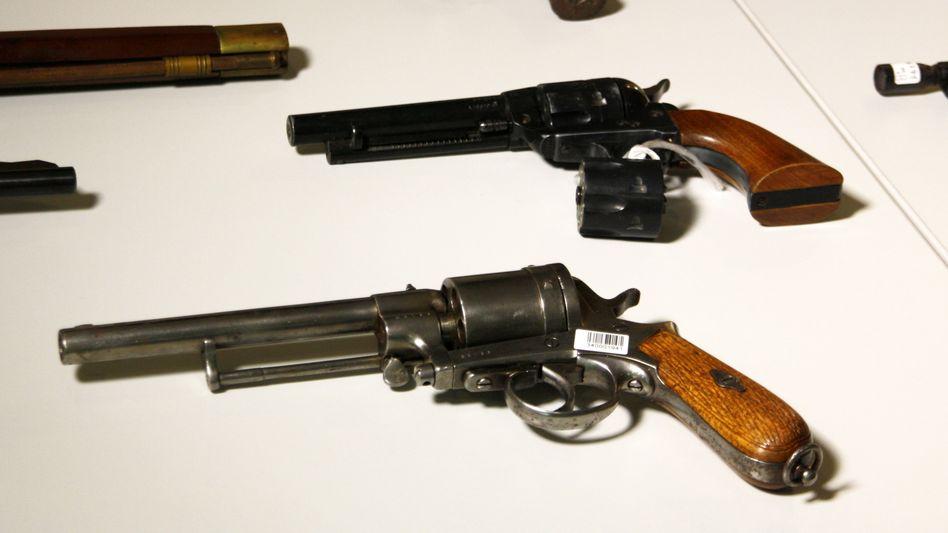 Bei der jüngsten Waffenamnestie 2018 abgegebene Revolver