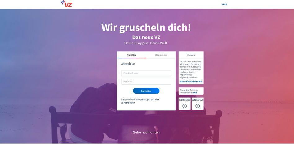 """""""Wir gruscheln dich!"""": VZ.net lockt unter anderem mit Gruppen"""